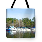 Ripples And Lines Tote Bag