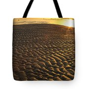 Ripples In The Sand Low Tide Golden Sunset Tote Bag