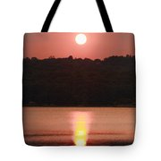 Ripples Of Sunset Tote Bag