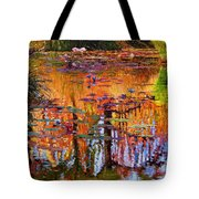 Ripples On Fall Pond Tote Bag
