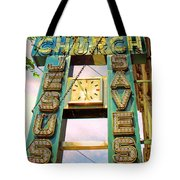 Rising Above Jesus Saves Tote Bag