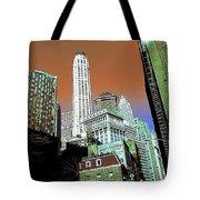 Rising High - New York Wall Street Skyline Tote Bag