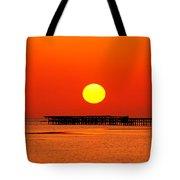 Rising Sun In Nabq Bay Tote Bag