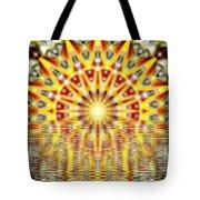 Rising Sun Mandala Tote Bag