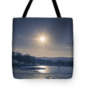 Rising Sun On A Cold Winter Morning Tote Bag