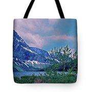 Rising Wolf Mountain And Two Medicine Lake Tote Bag