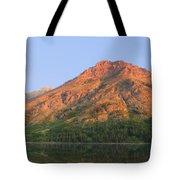 Rising Wolf Mountain At Dawn Tote Bag