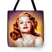 Rita Hayworth, Vintage Actress Tote Bag