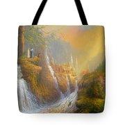 Rivendell Wisdom Of The Elves. Tote Bag by Joe  Gilronan