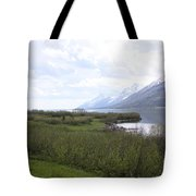 River Along The Rockies Tote Bag