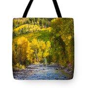 River And Aspens Tote Bag