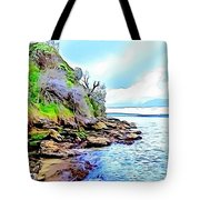 River And Trees Pictures Tote Bag