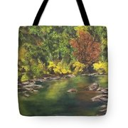River At Hidden Acres 1. Tote Bag