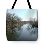 River At Marston On Dove Tote Bag