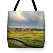 River Below The Clouds Tote Bag