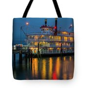 River Boat At Dusk Tote Bag
