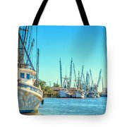 Darien Shrimp Boats Tote Bag