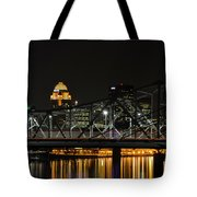 Ohio River Bridges And Louisville Skyline Tote Bag