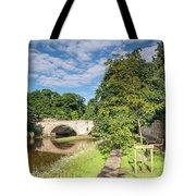 River Coquet Flows Under Warkworth Bridge Tote Bag
