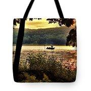 River Fishing  Tote Bag