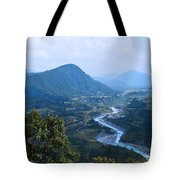 River  Flowing From Mountain Tote Bag