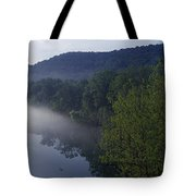 River Flowing In A Forest Tote Bag