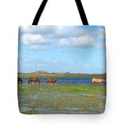 River Horses Horizon Tote Bag