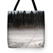 River Ice And Steam Tote Bag