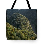 River In Forest Mountains Tote Bag