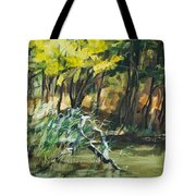 River In Summer Tote Bag