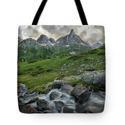 River In The French Alps Tote Bag