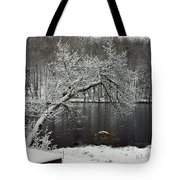 River In The Winter Tote Bag