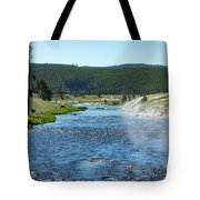 River In Yellowstone Tote Bag