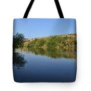 River Jordan Tote Bag by Atul Daimari