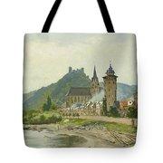 River Landscape Of The Rhine Tote Bag