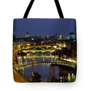 River Liffey Bridges, Dublin, Ireland Tote Bag