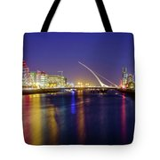 River Liffey In Dublin At Dusk Tote Bag