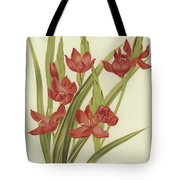 River Lily Or Crimson Flag Tote Bag