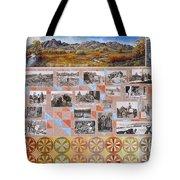 River Mural Autumn Panel Bottom Half Tote Bag