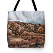 River Mural Autumn Panorama Tote Bag