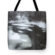 River Of Melting Ice Tote Bag