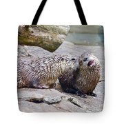 River Otters Tote Bag
