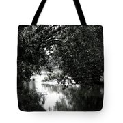 River Passage In Black And White Tote Bag