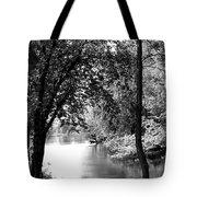 River Passage Through Trees Tote Bag