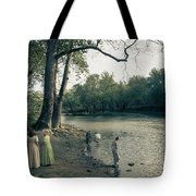River Playing  Tote Bag