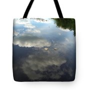 River Reflection Of Clouds Tote Bag