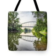 River Saale Bridge Near Dehlitz Tote Bag