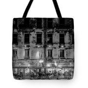 River Street Sweets Candy Store Black White  Tote Bag