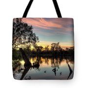 River Sunrise Tote Bag