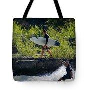 River Surfers Snake River Tote Bag